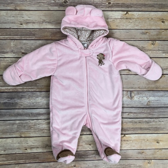 1b79826f0 Carter's One Pieces | Carters Baby Girl Pink Snowsuit One Piece 6 ...